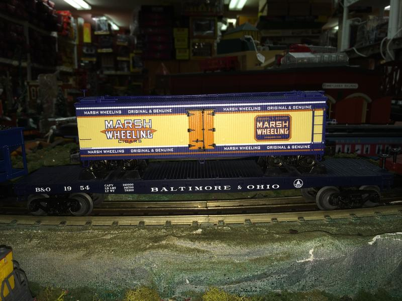 Pat's Trains : MTH RailKing - MARSH WHEELING CIGARS S-GAUGE